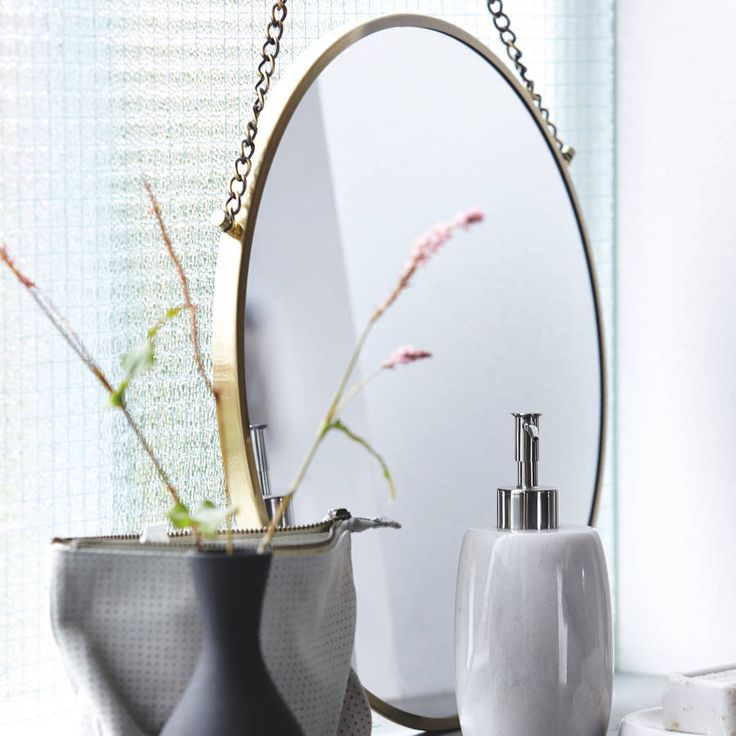 Round Brass Bolina mirror from Denmark. available in a copper, silver and brass finish.Dia:38cm