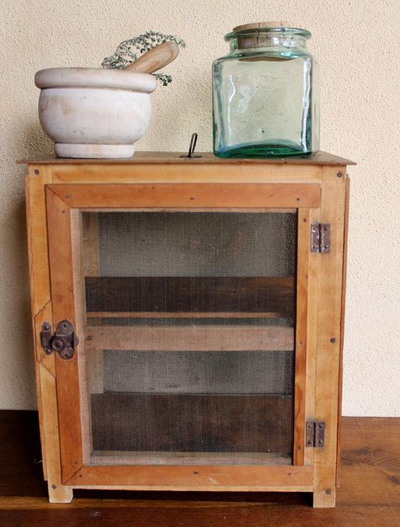 Antique Fromager Cheese Cabinet 1930u0027s   Vintage Wooden Storage Box  Handmade   Rustic Chic French