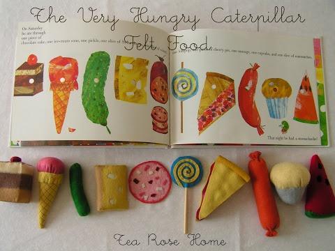Tea Rose Home: The Little Hungry Catapillar/ Felt Food