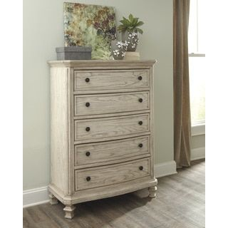 Signature Designs By Ashley Demarlos Parchment White Chest Overstock Com Shopping The Best