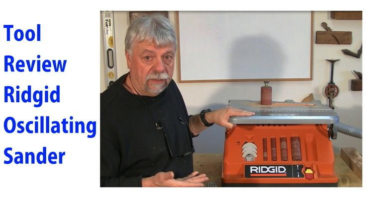 Ridgid Oscillating Belt & Spindle Sander.