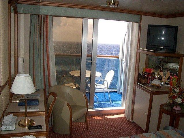 Princess cruise line crown princess balcony verandah for Alaska cruise balcony room
