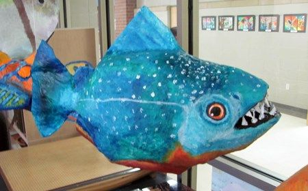 Paper Mache' Sea Creatures - Conway High School Art Project