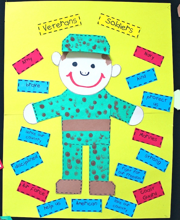 Mrs. Ring's K-Crew Kids Rock!!: Veterans' Day Thinking Map and craft