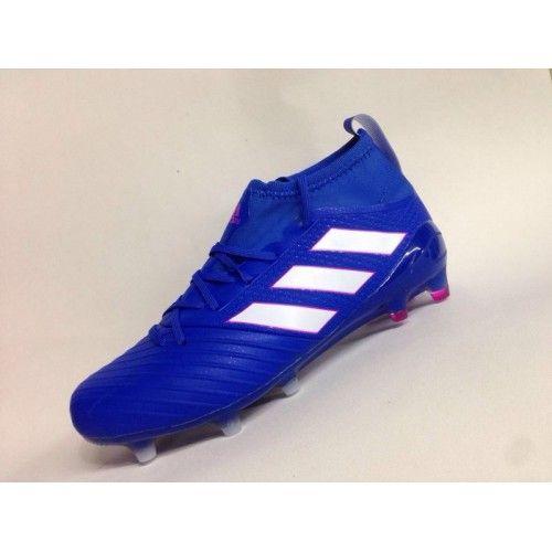 Billig Adidas Ace 17.1 Primeknit FG Leather Bla Fotballsko -Salg Adidas ACE Fotballsko
