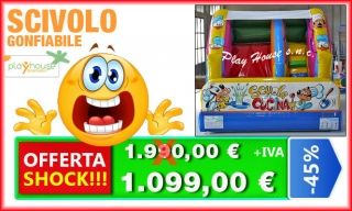 Scivolo gonfiabile 1.099 € offerta shock http://playhousegonfiabili.it/offerte-shock-giochi-bambini/scivoli-gonfiabili-in-offerta-scuola-di-cucina-detail.html