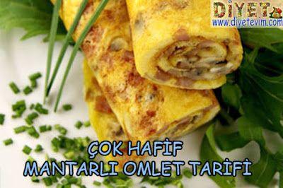 mantarlı dürüm omlet tarifi
