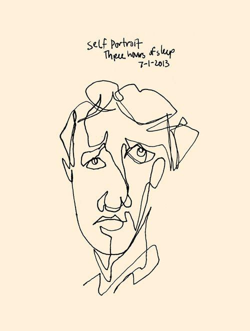Blind Contour Line Drawing Self Portrait : Best images about blind contour drawing on pinterest