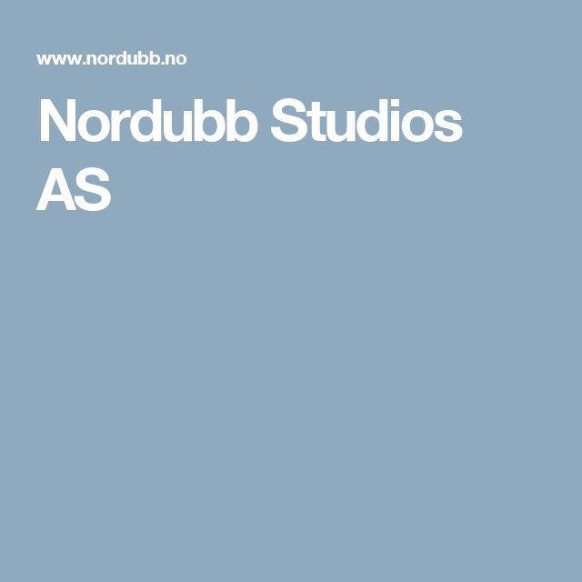 Nordubb Studios AS