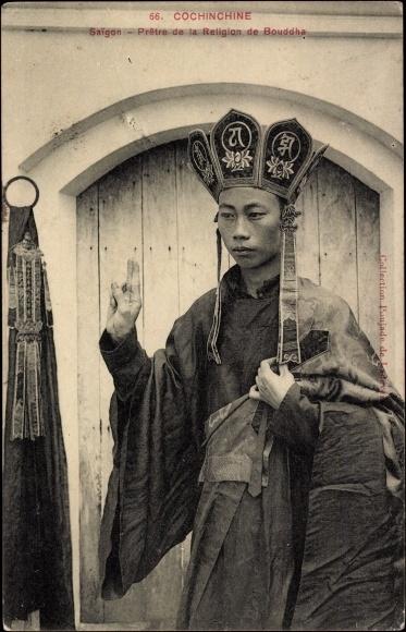 Ak Saigon Cochinchine Vietnam, Pretre de la Religion de Bouddha