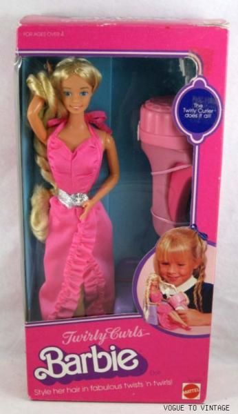 Barbie Playline - Les Pink Boxes des années 80. I have this one still I use to love doing her hair