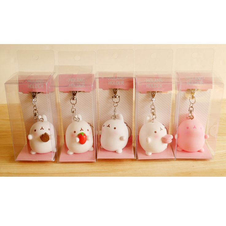 New Molang Holder Bag Key Chain 5cm 2in Figure #Molang