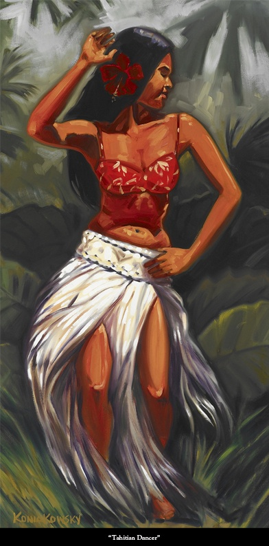 Pinup Girls Wallpaper Tahaitian Dancer By Wade Koniakowsky Paintings Of