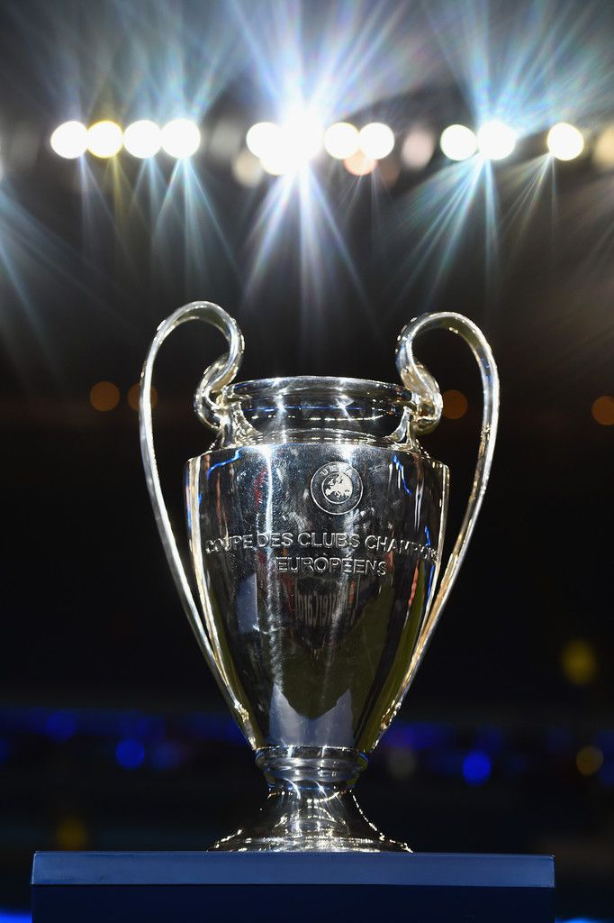 The Champions league trophy is seen prior to the UEFA Champions League Round of 16 match between Manchester City and Barcelona at Etihad Stadium on February 24, 2015 in Manchester, United Kingdom.