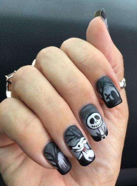 34 trendige Ideen Nägel Design Disney Jack Skellington   – Nails