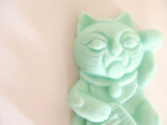 10 Kitty Cat Soap Favors: bridal shower shower by kitschandfancy