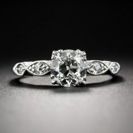 .92 Carat Art Deco Diamond Engagement Ring
