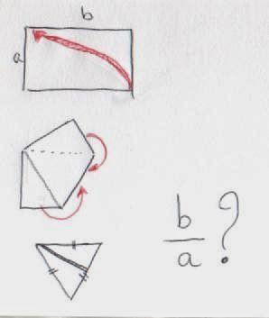 il m'est venu une question en pliant un billet de 5 euros qui répond presque à la question : Quel doit être le format d'un rectangle pour ob...