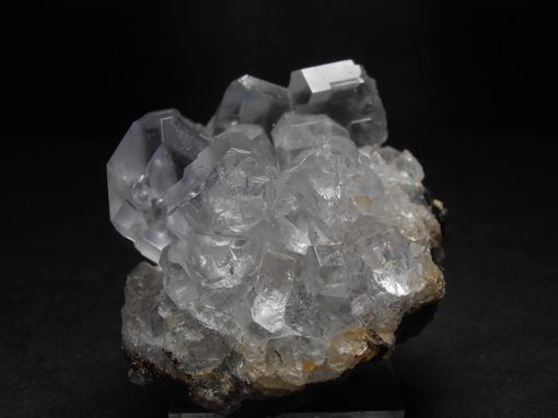 This fluorite crystal cluster is from Naica Mine in Naica, Mum.de Saucillo.