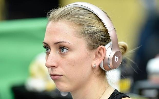 Laura Trott with a bored/ sad/ frowny face