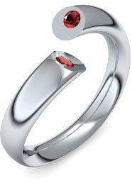 Moderne trifft auf pure Eleganz! Silberring Rubinring Damen Sterling-Silber 925 1 Rubin Rot 1 Rubin Rot Amoonic Fusion Ring Gr. 53 (16.9), http://www.amazon.de/dp/B009AY4XPK/ref=cm_sw_r_pi_awd_ddcysb05R7D0M