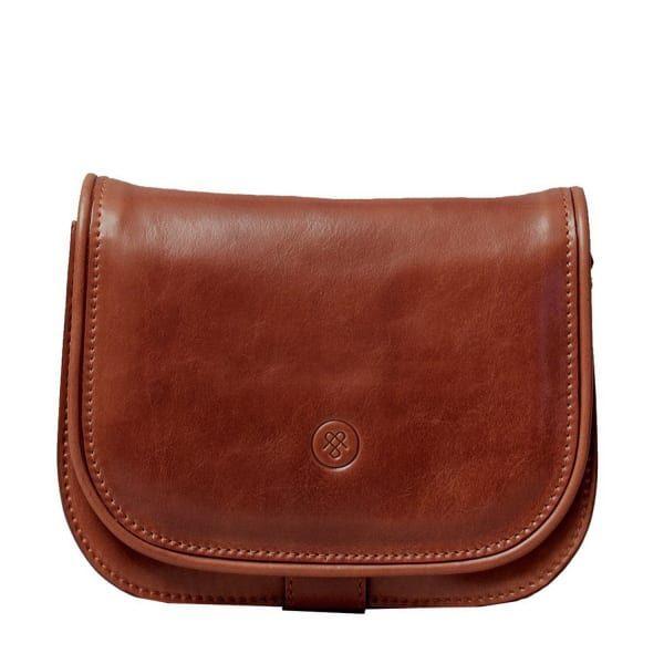 Luxury Italian Leather Women S Saddlebag Purse Medium Medolla M Chestnut Tan
