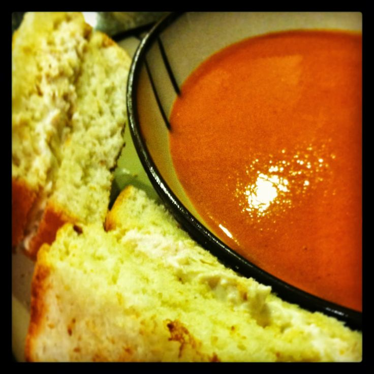 Thoroughly In Earnest: Tomato Soup in the Blendtec & 90 Minute Bread #blendtec #thoroughlyinearnest