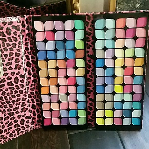 All shimmer eyeshadow palette 120 colors NEW! 120 shimmer eyeshadow colors. .very pigmented!  Nice big size. the case is soft and padded,  perfect for traveling! New, never used or swatched. .no trades Makeup Eyeshadow