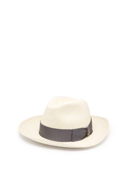 654c1897de3 BORSALINO BORSALINO - PANAMA QUITO WIDE BRIM STRAW HAT - MENS - WHITE.   borsalino