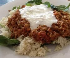 Recipe Beef Mince Curry and Vegetables with Spinach by Wendy Farrelly - Recipe of category Main dishes - meat