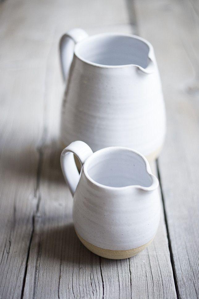 Farmhouse Pitchers…sturdy, elegant. A piece to grow old with!