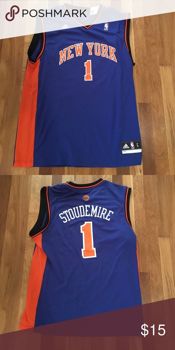 New York Knicks #1 Stoudemire Jersey adidas large Brand new with tags officially licensed Amare Stoudemire #1 New York Knicks jersey size large. adidas Shirts Tank Tops