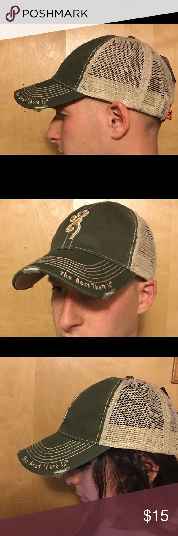 Browning hat. Unisex. Brand new with tags! This hat is brand new never worn with tags. Browning hunting hat for guy or girl. Perfect for your wife or girlfriend to wear when the guys come over so she can make them jealous. Or for you to wear. browning Accessories Hats