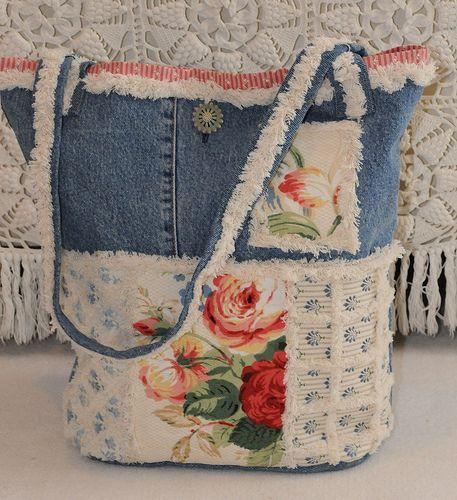 denim chenille tote | old denim pants and home decorator sam… | Flickr