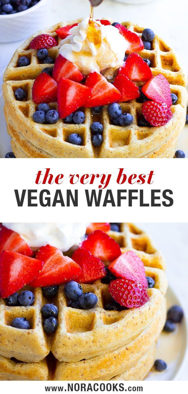 Best Ever Vegan Waffles Nora Cooks In 2020 Vegan Waffles Vegan Dishes Food