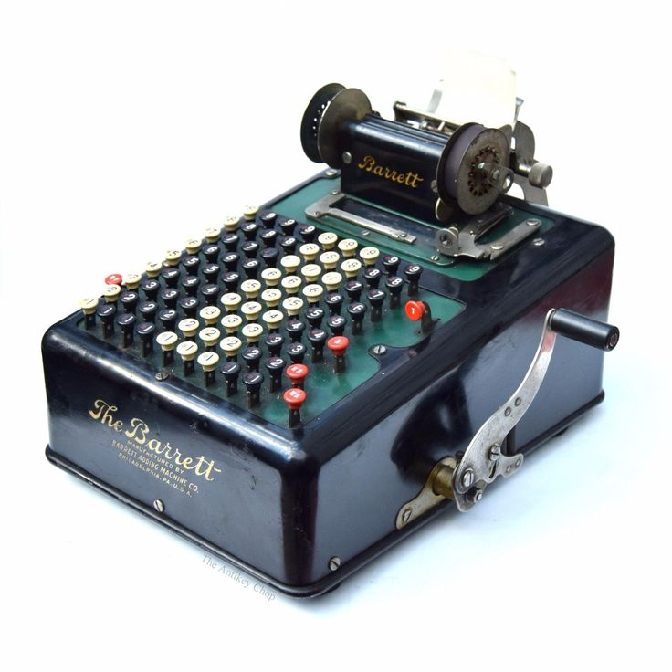 Antique THE BARRETT ADDING MACHINE ca.1912 Vtg Mechanical Calculator Model No.12 | eBay