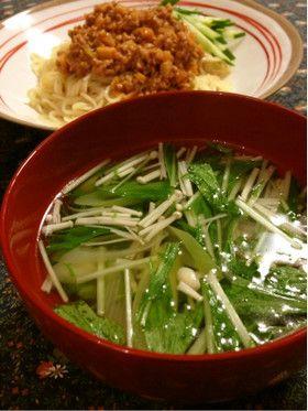簡単♪水菜のあっさり中華風スープ by makisora [クックパッド] 簡単おいしいみんなのレシピが254万品