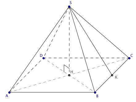 Comment calculer l'apothème d'une pyramide
