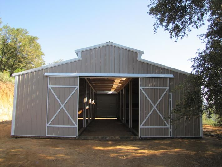 Shedrow gable shed gambrel barn horse barns for Gambrel barn prices