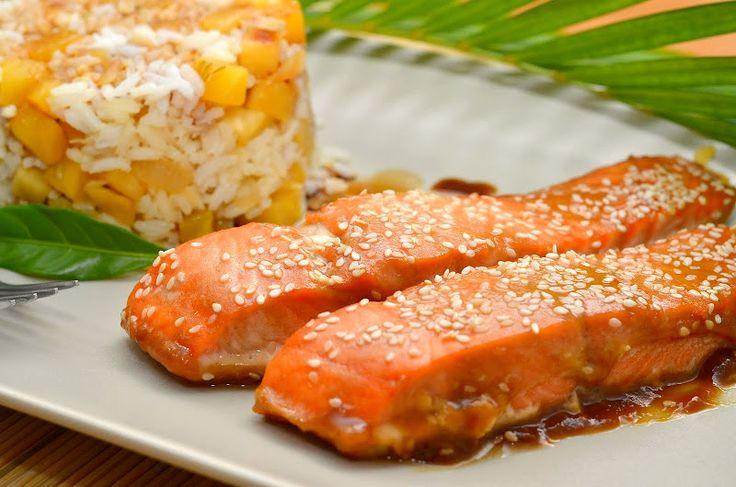 Лосось с мёдом и горчицей | Очень простой и чудесный рецепт приготовления моего любимого лосося. Потратив всего несколько минут на кухне, вы получите бесподобную медовую рыбку.