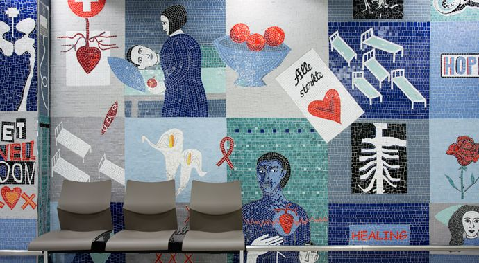 Lovell Friedman |Mosaic at  Mitchells Plain Hospital