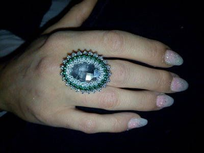 Guarda questo articolo nel mio negozio Etsy https://www.etsy.com/it/listing/528478847/anello-regolabile-smeraldo-argento