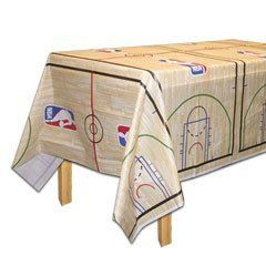 Spalding Ball Table Cover by Cool Novelty Products. $6.10. It is a basketball party theme and if you are a High School team fan, NCAA college fan or an NBA fan, our Spalding basketball paper goods are the perfect choice for a basketball theme party. Get ready for March Madness and the playoffs with this great tableware basketball pattern. Mix an match with our NCAA team items, NBA team items and school colors for a great setting. Our Spalding Ball plastic table cove...