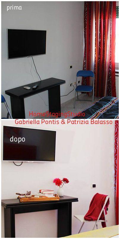 Angolo Tv, intervento di home staging e fotografia realizzato in  appartamento in affitto turistico Cagliari