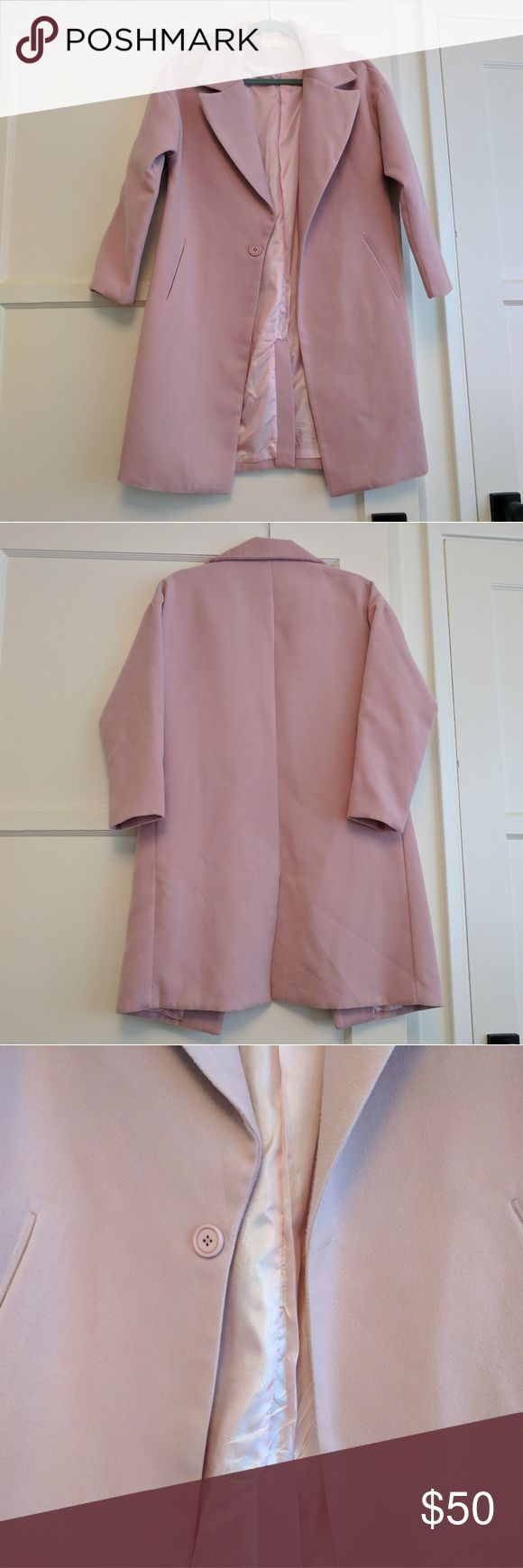 Pink cocoon coat Super soft pink coat. Korean brand.  Worn only once. Jackets & Coats