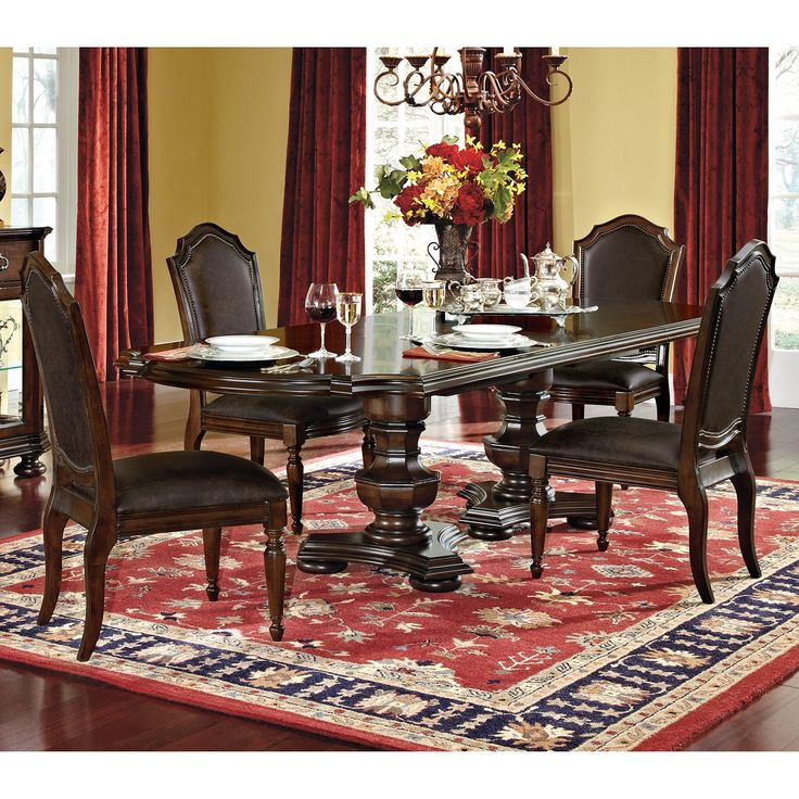 Cleopatra Ornate Traditional Cherry Formal Dining Room: Chateau Emillion Dining Room 5 Pc. Dining Room