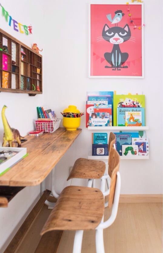 Love this vintage art desk for kids!