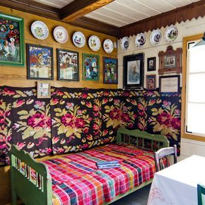 The inside of a Romanian traditional small home.