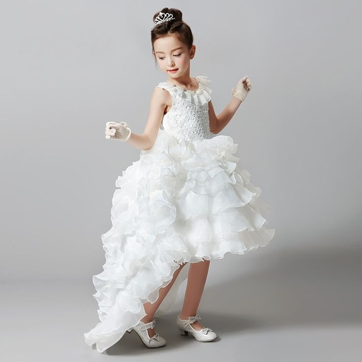 46.00$  Buy here - http://ali6ui.worldwells.pw/go.php?t=32690726546 - New summer&autumn girls dresses fashion piano performance clothing girls European style white dresses for girls 46.00$