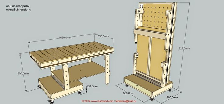 Folding workbench/assembly table. Adding some pegboard could increase the usability.